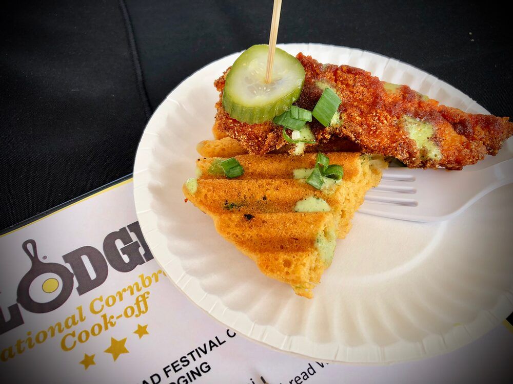 Hello, From The Other Side... Of The Judges Table! Nashville Hot Chicken And Cornbread Waffles