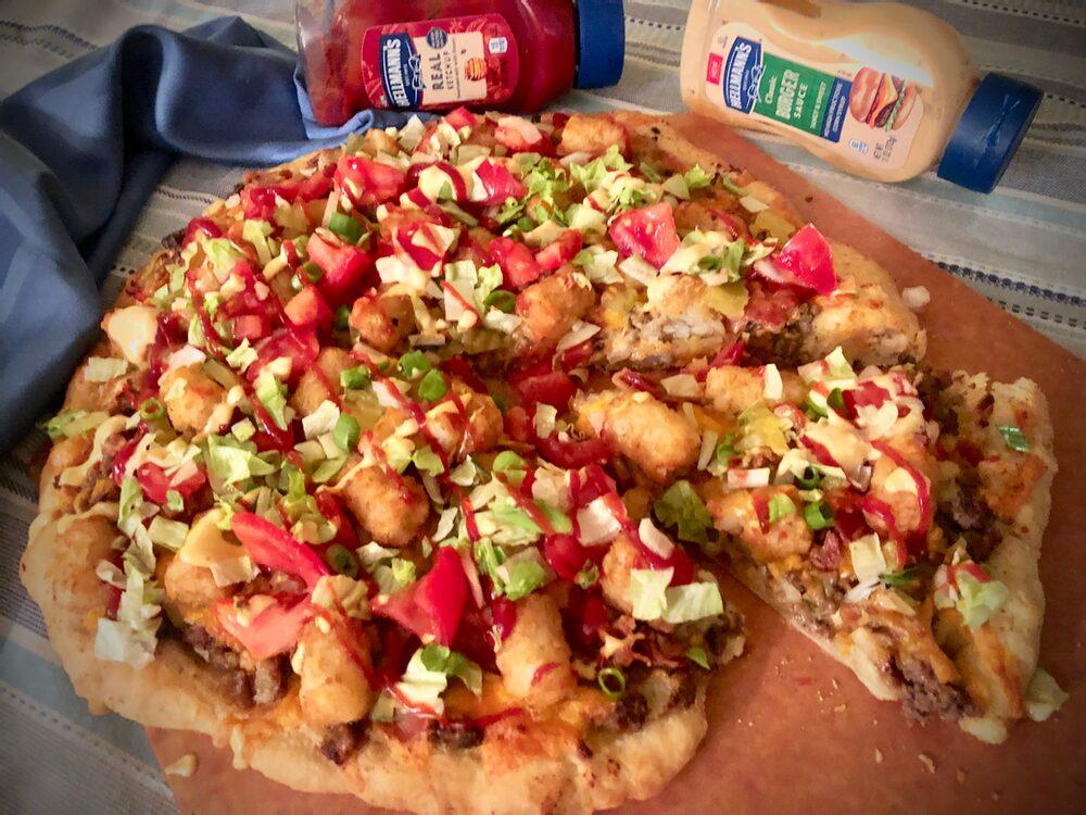Beyond Burger And Fries... Bacon Cheeseburger Pizza Palooza!
