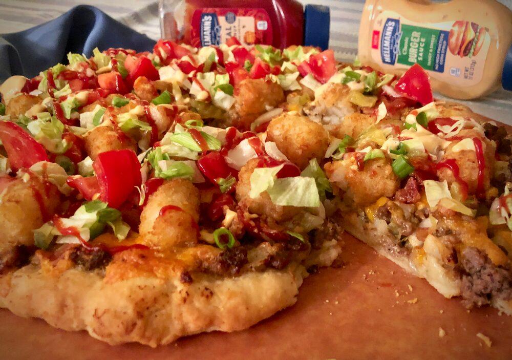Beyond Burger And Fries... Bacon Cheeseburger Pizza Palooza