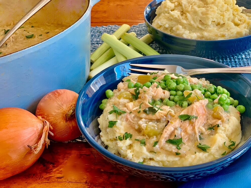 Leftover Potato Mash Up! Becky'S Chicken Fricassee