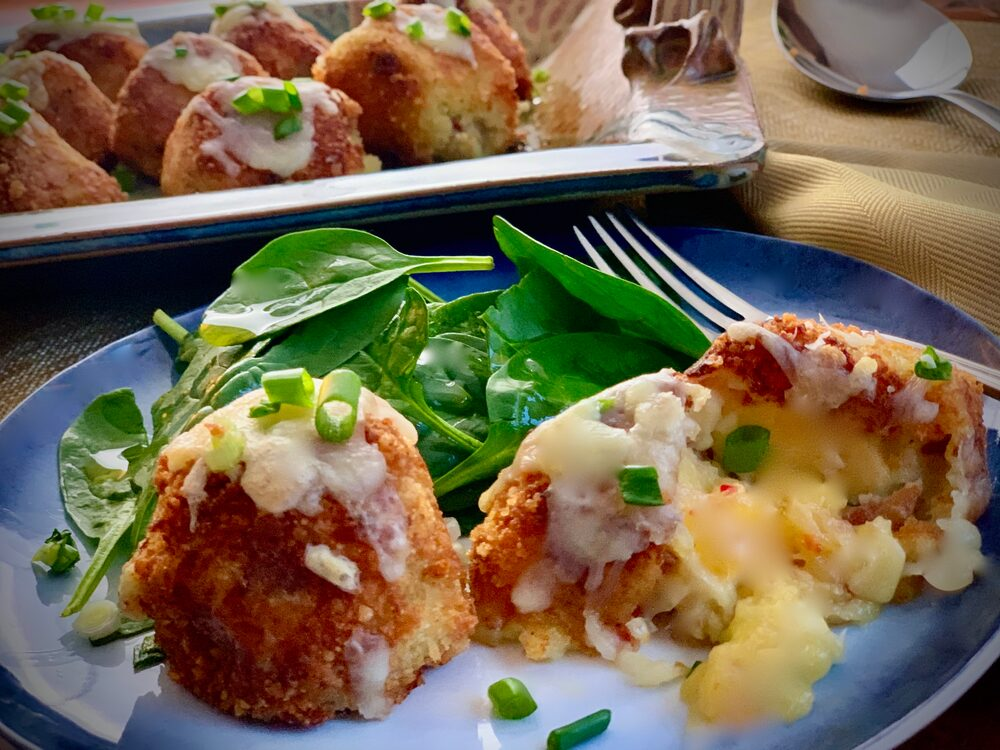 Leftover Potato Mash Up! Leftover Mashed Potato Croquettes With Cheddar And Bacon