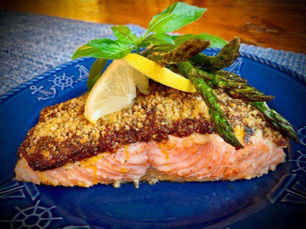 Pesto Palooza! Salmon With Sun-Dried Tomato Pesto