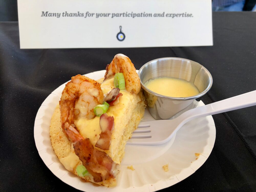 Hello, From The Other Side... Of The Judges Table! Cajun Shrimp 'N Grits, Cheddar Cornbread, Tabasco Butter Sauce