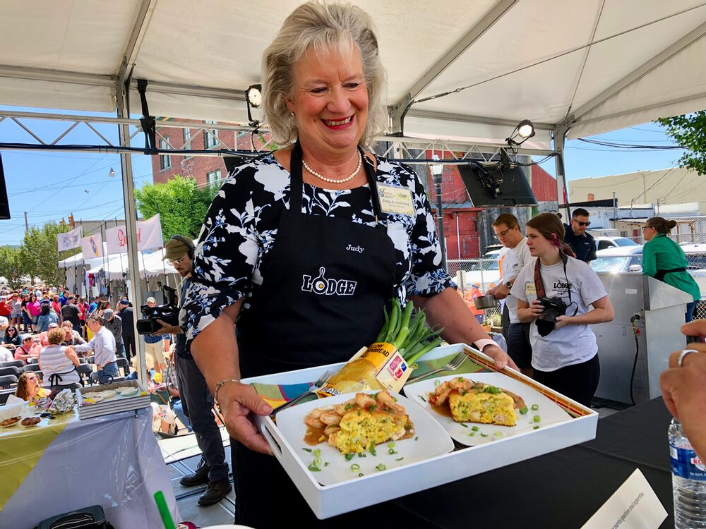 Hello, From The Other Side... Of The Judges Table! Shrimp Boil Cornbread And Étouffée