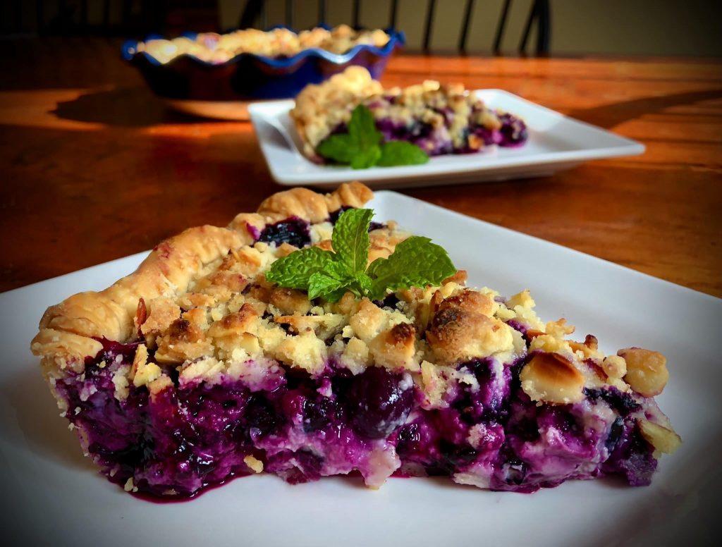 Blueberries and Cream Pie UPDATED PHOTO