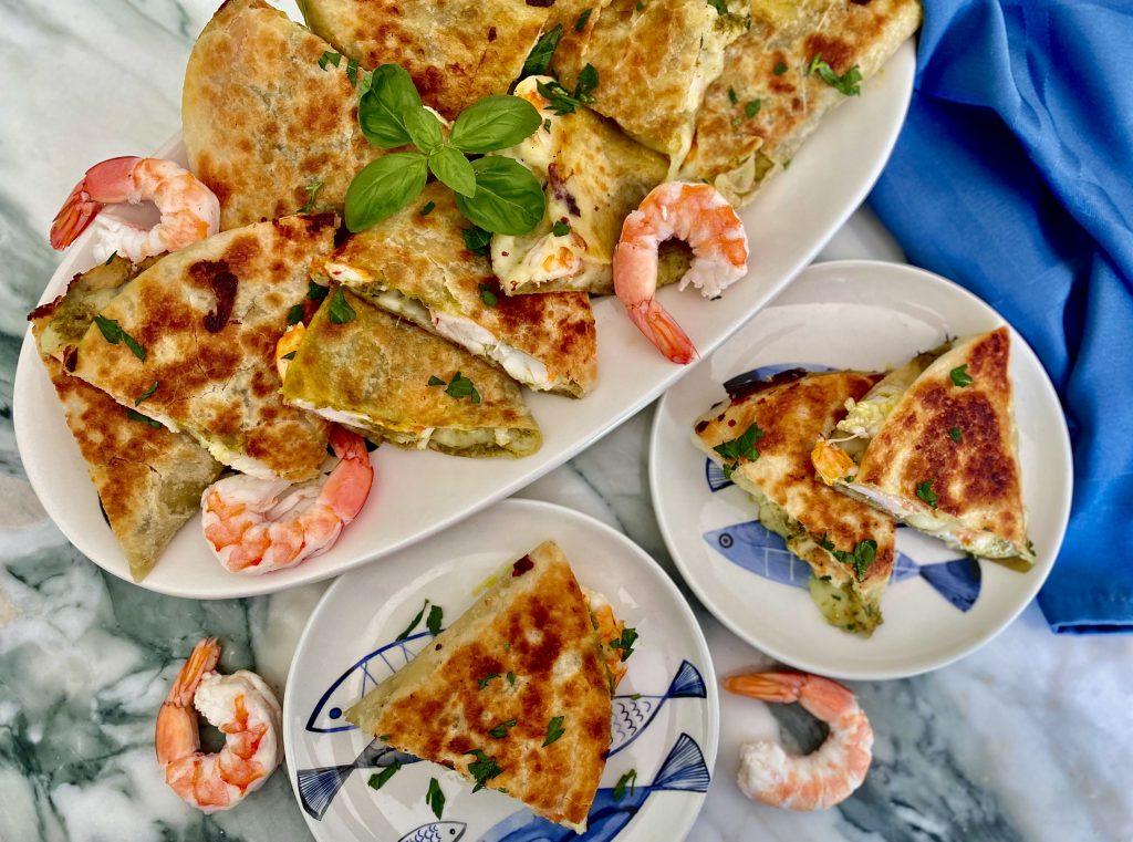 Shrimp Pesto Quesadillas NEW PHOTO