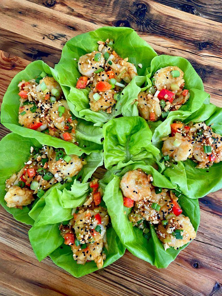 shrimp lettuce