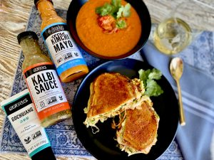 East Meets West - Broccoli Kimchi Reubens And Garden Tomato Soup With A Korean Kick
